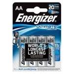 Baterii Energizer Ultimate Lithium AA, blister de 4 buc.