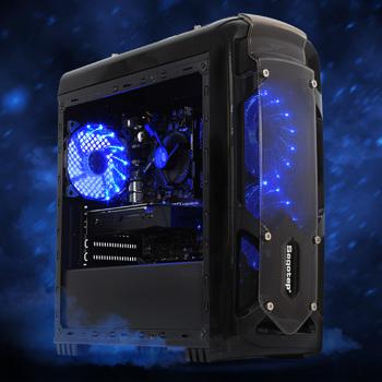 PC Gaming Viking Intel Edition, Intel i3-9100F 3.6GHz, 8GB DDR4, 1TB HDD + 120GB SSD, GTX 1650 4GB GDDR5, Iluminare RGB