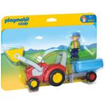 Figurina Tractor cu Remorca - 1.2.3