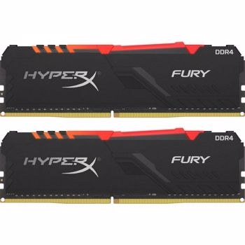 Kit Memorie Kingston HyperX FURY RGB 16GB 2x8GB DDR4 3200MHz CL16 hx432c16fb3ak2/16