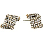Marc Jacobs Pave Twisted Studs Earrings Culoarea Crystal/Antique Gold