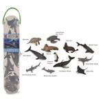Set 12 figurine animale marine Collecta, plastic cauciucat, cutie inclusa, 3 ani+