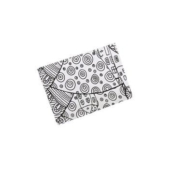 Cearsaf de pat alb cu elastic si imprimeu negru cu desene 180X200