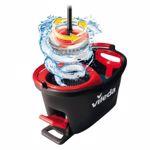 Mop rotativ Vileda Easy Wring & Clean Turbo, (Negru-Rosu)