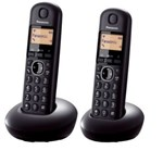 Telefon fara fir Panasonic Dect Twin KX-TGB212FXB, 2 receptoare, Caller ID, Negru