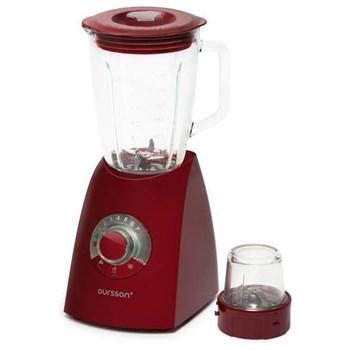 Blender de masa Oursson BL0642G/DC, 600 W, Vas de sticla 2 l, Shake 22000 rpm, Rasnita, 7 viteze, Visiniu