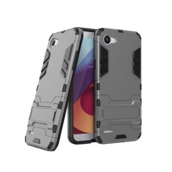 Husa hibrid g-shock pentru LG Q6 gri
