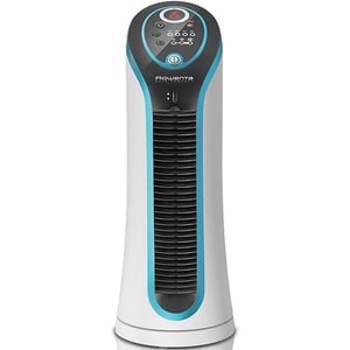 Ventilator turn ROWENTA Eole Compact VU6210F0, ecran LED, 3 trepte viteza, 30W, alb-negru