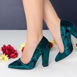 Pantofi dama Dakota verzi cu toc