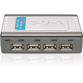 Hub USB D-LINK DUB-H4, USB 2.0, negru
