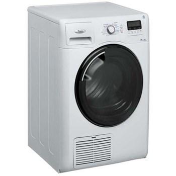 Uscator de rufe 6th Sense Whirlpool AZB8785, 8 kg, Condensare, Display LCD Touch, Functie Antisifoanre, Alb