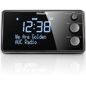 Radio cu ceas Philips AJB3552/12 FM Dab+ afisaj mare acord digital senzor lumina 1.5W 220V Negru ajb3552/12