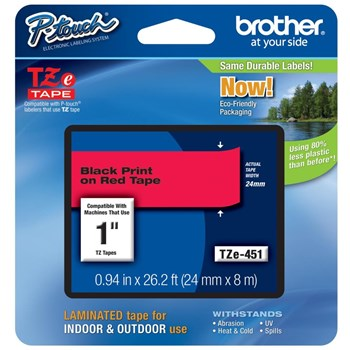 Brother TZE451 Tape 24mm Black/Red Ribbon Cartridge