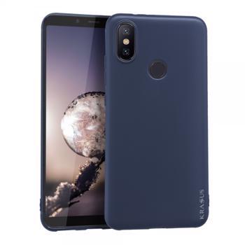 Husa KRASSUS pentru Xiaomi Mi A2 / 6X din silicon mat dark blue