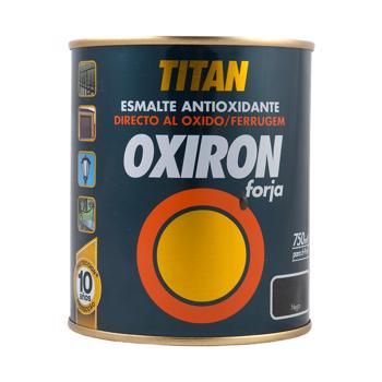 Email metal Titan Oxiron, fier forjat, negru, interior/exterior/, 0,75 l