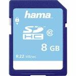 Card de memorie HAMA 104366, SDHC, 8GB, 22MB/s, clasa 10