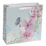 Punga pentru cadou - Pink Floral - mica