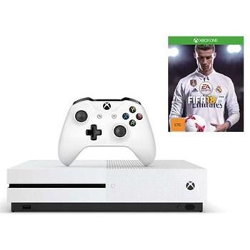 Consola Xbox One S 500GB, alb + Forza Horizon 3 + Hot Wheels DLC + FIFA 18