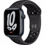 Apple Watch Nike Series 7 GPS, 45mm, Midnight Aluminium Case with Anthracite/Black Nike Sport Band