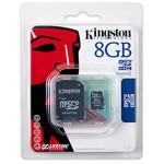 Card de memorie Kingston MicroSDHC, 8GB, Class 4 + Adaptor