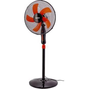 Ventilator cu picior DAEWOO DDV166, 3 trepte de viteza, 40 cm, 50W, negru-rosu