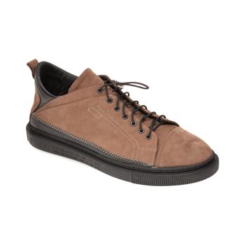 Pantofi OTTER gri, M5746, din nabuc