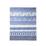 Esarfa albastra cu diverse imprimeuri Exotic Jeans