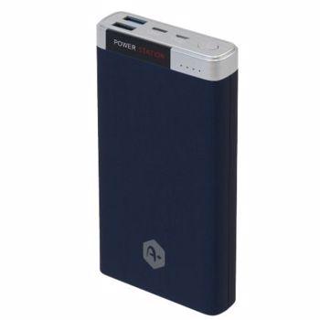 Acumulator extern A+, 20.000 mAh Quick Charge 3.0, 2 porturi USB, conectivitate micro USB si type C, Blue