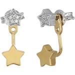 Fossil Sterling Star Ear Jackets Earrings Culoarea Silver