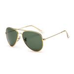 Ochelari de soare Aviator Verde cu Auriu