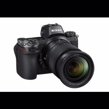 Aparat foto Mirrorless Nikon Z6, Full-Frame, 24.5 MP, 4K, Wi-Fi, Body, Negru + Adaptor FTZ