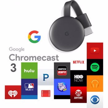 Google Chromecast 3.0 HDMI Streaming Media Player Black