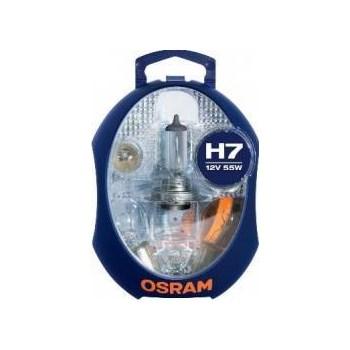Set becuri auto Osram H7 P21W PY21W P1 5W R5W W5W + 3 sigurante a_albm h7