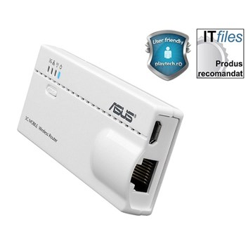 Access point ASUS WL-330N3G, 6-in-1 Wireless-N150 Mobile Router, IEEE 802.11b/g/n, Range Extender, Hotspot, 3G dongle suport