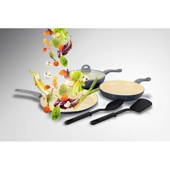 Set 3 tigai + 2 spatule Heinner Alegria HR-HX-06S 1PC hr-hx-06s1pc
