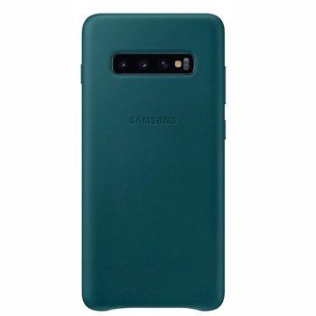 Husa de protectie Samsung Leather pentru Galaxy S10 Plus G975, Green
