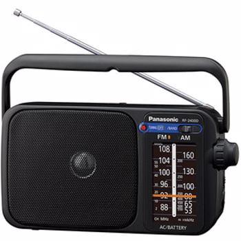 Radio portabil Panasonic RF-2400DEG-K, FM/AM (Negru)