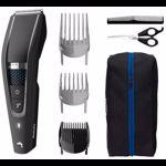 Aparat de tuns Philips Hairclipper series 5000 HC5632/15, Lungime 0.5-28 mm, Autonomie 90 min, Tehnologie Trim-n-Flow PRO (Negru)
