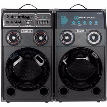 Set boxe audio portabile Samus Twin Sound 10 + microfon cu fir 200W Negru TWIN SOUND 10