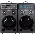 Set boxe audio portabile Samus Twin Sound 10 + microfon cu fir 200W Negru TWIN SOUND 10