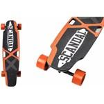 Skateboard electric Scandal, 2 Motoare X 300W, acumulator LG 18650 Lithium, 42V 4400mAH, autonomie 20 - 23km, portocaliu
