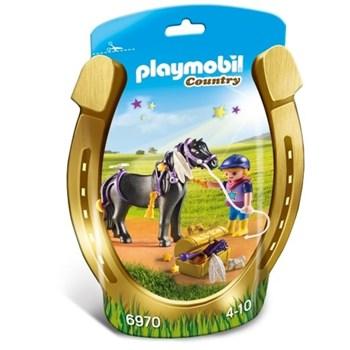 Playmobil Country, Ingrijitor si ponei cu stelute