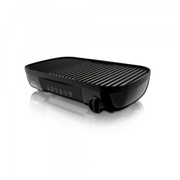 Gratar electric Philips HD632120 2000 W 42 x 24 cm Indicator temperatura Negru hd6321/20
