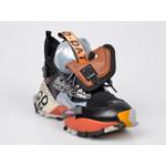 Pantofi sport FLAVIA PASSINI negri, 4402911, din material textil si piele naturala
