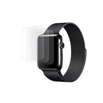 Set curea tip plasa cu prindere magnetica pentru Apple Watch 42 / 44mm si 3 folii din hidrogel negru