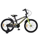Bicicleta pentru baieti cu roti ajutatoare Byox Master Prince Black 20 inch