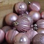 Set 30 de globulete de Craciun - Blush Pink