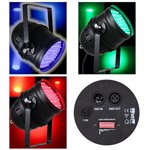 Proiector profesional, LED PAR 64 DMX 10MM X 177 LED-URI