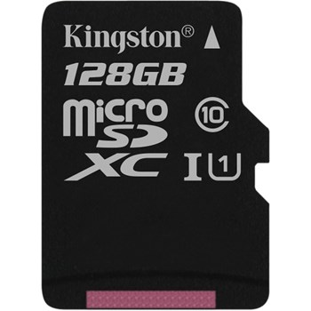 Card de memorie Kingston microSDXC Canvas Select 80R 128GB Clasa 10 UHS-I U1 80 Mbs