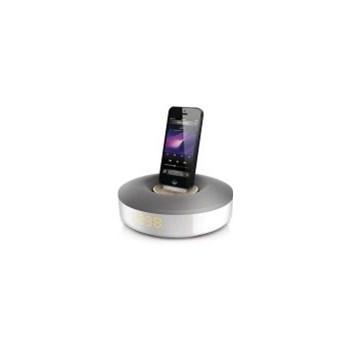 Sistem de andocare Philips DS1155/12, Tuner FM, pentru iPod/iPhone, Argintiu